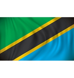 Flag of Tanzania vector image