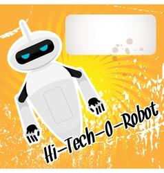 hitech robot vector image vector image