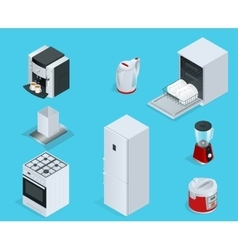 Isometric Home appliances Set of household vector image vector image