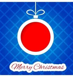 Papercut Christmas ball vector image vector image