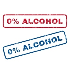 0 Percent Alcohol Rubber Stamps vector