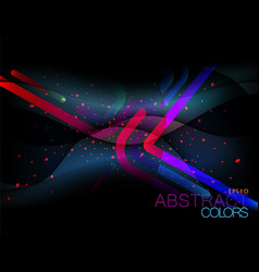Abstract lines dark scene vector