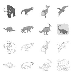 Animal and character icon vector
