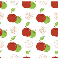 apple pattern vintage seamless repeating pattern vector image