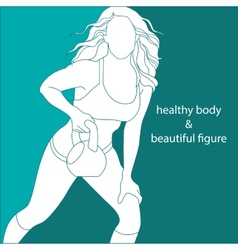 attractive girl athletic vector image
