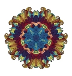 Beautiful Deco Colored Contour Star vector