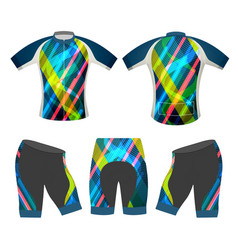 bicycle apparel sports t-shirt vector image