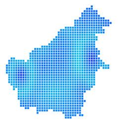 Blue dot borneo island map vector