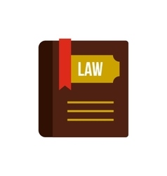 Book of law icon flat style vector image