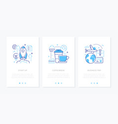 business and finance - set line design style vector image