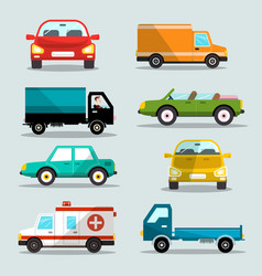Cars set car icons vector