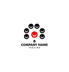 cctv security logo template design vector image
