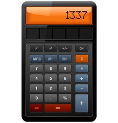 Classic accounting calculator vector
