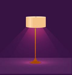 colorful cartoon floor lamp light vector image