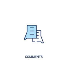 Comments concept 2 colored icon simple line vector
