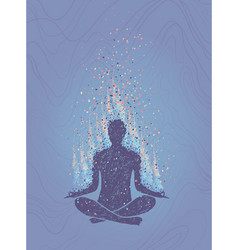 Concept of meditation enlightenment human vector