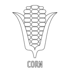 corn icon outline style vector image
