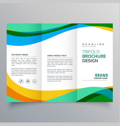 Creative trifold business brochure design template vector