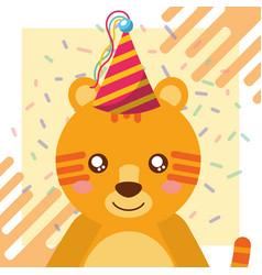 Cute animal happy birthday vector