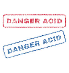 Danger acid textile stamps vector