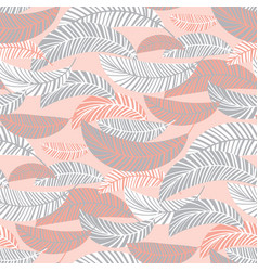 decorative tropical seamless pattern vector image