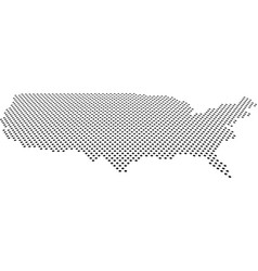 doted usa map perspective vector image