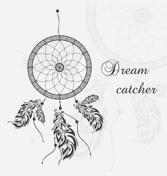 Dream catcher white background vector
