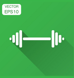 Dumbbell fitness gym in flat style barbell with vector