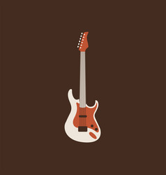 Electro guitar icon isolated string ill vector