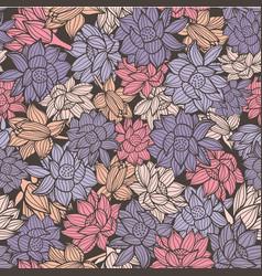 elegant waterlilies or lotus flowers seamless vector image