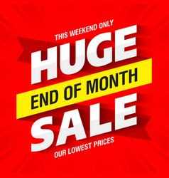 End of month huge sale banner template vector