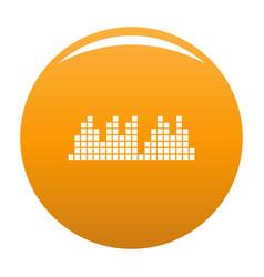 Equalizer play radio icon orange vector