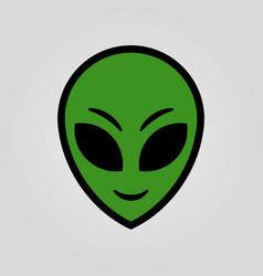 Fiction alien head cartoon design vector