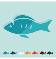 Flat design fish vector