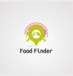 food finder location logo icon element and vector image