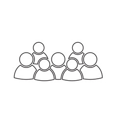 Group of people icon in line style persons icon vector