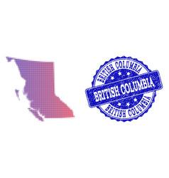 Halftone gradient map of british columbia province vector