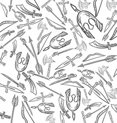 Hand Drawn Weapons Seamless Pattern vector