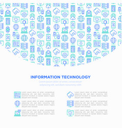 information technology concept vector image