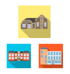 Isolated object of building and front logo vector