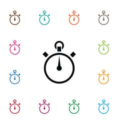Isolated stopwatch icon chronometer vector