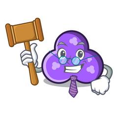 Judge trefoil mascot cartoon style vector