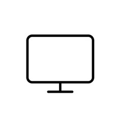 line computer monitor tv icon on white background vector image