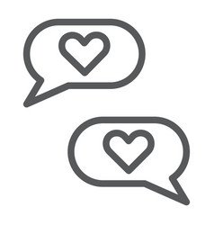 love chat line icon romantic and dialog speech vector image