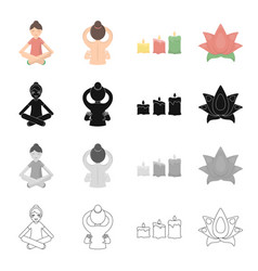 medicine non traditional and other web icon in vector image