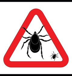 Mite warning sign of tick warning sign Bud warning vector image