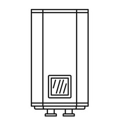 natural gas boiler icon outline style vector image