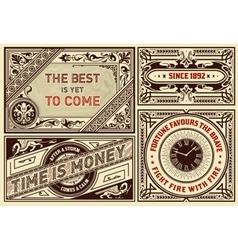 Old advertisements pack- Vintage vector