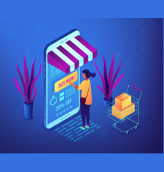 online purchase concept isometric vector image