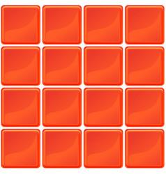 orange tiles texture seamless vector image